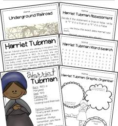 Harriet Tubman Biography Pack (Black History Month) - A Page Out of History [ 2250 x 1407 Pixel ]