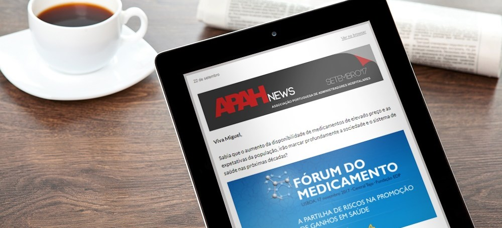 Subscreva a Newsletter da APAH
