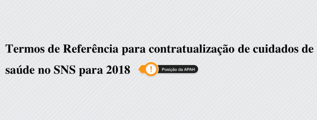 Contratualização de Cuidados de Saúde 2018