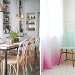 Diy Painted Windsor Chairs Pink Papasan Chair Cushion Paint Dipped A Pair Spare Pin It