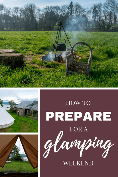 How to prepare for a glamping trip - glamping travel tips