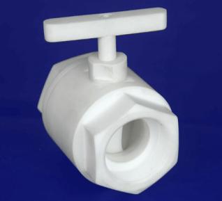 Válvula fabricada pelo plástico industrial Nitaflon.