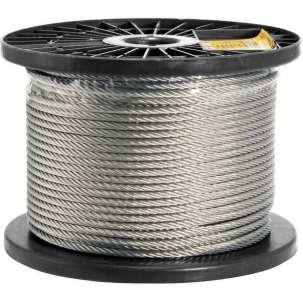 Foto mostrando um cabo de aço galvanizado.