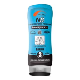 Embalagem azul e preta do Creme Protetor NB da Nutriex.