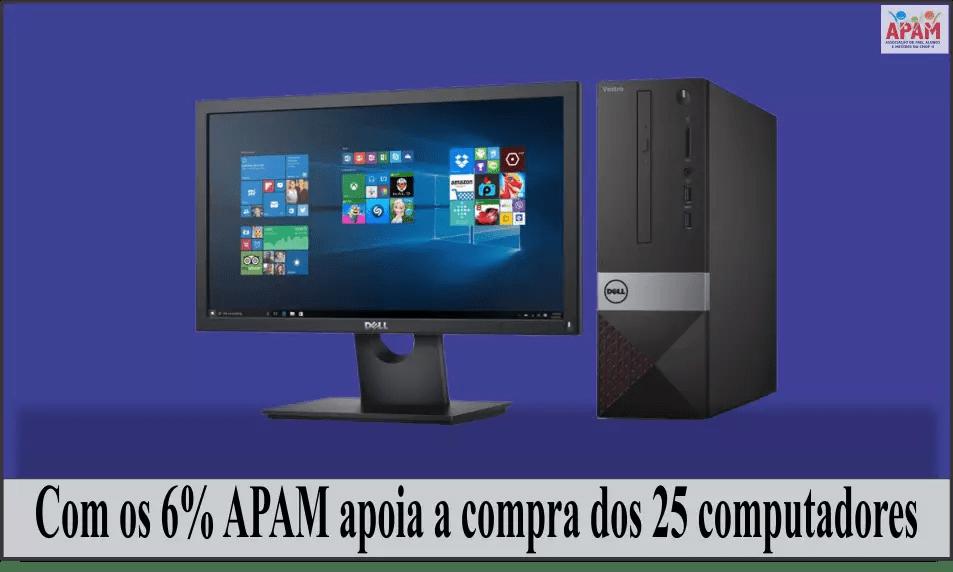 APAM apoiando a compra dos computadores administrativos