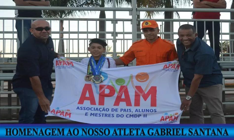 O NOSSO ATLETA GABRIEL FOI HOMENAGEADO NO CMDPII