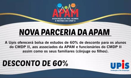 Nova parceria da APAM!!!