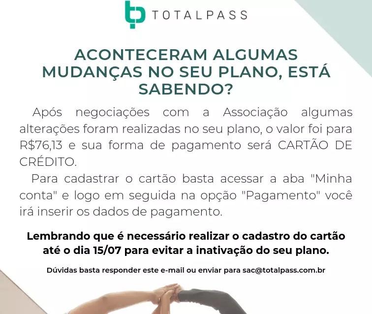 REFORMULAÇÃO DE CONVÊNIO COM A TOTALPASS