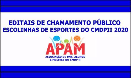EDITAIS DE CHAMAMENTO PÚBLICO DO CMDPII 2020