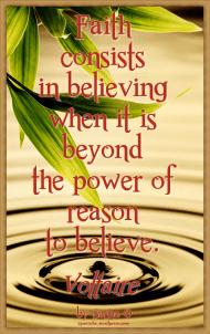 Faith Voltaire Quote