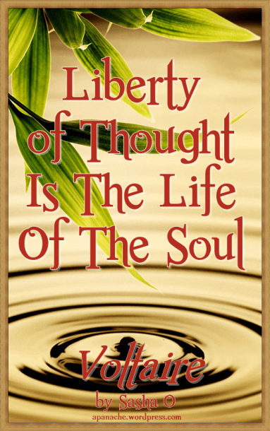 Liberty of Thought a Voltaire Quote