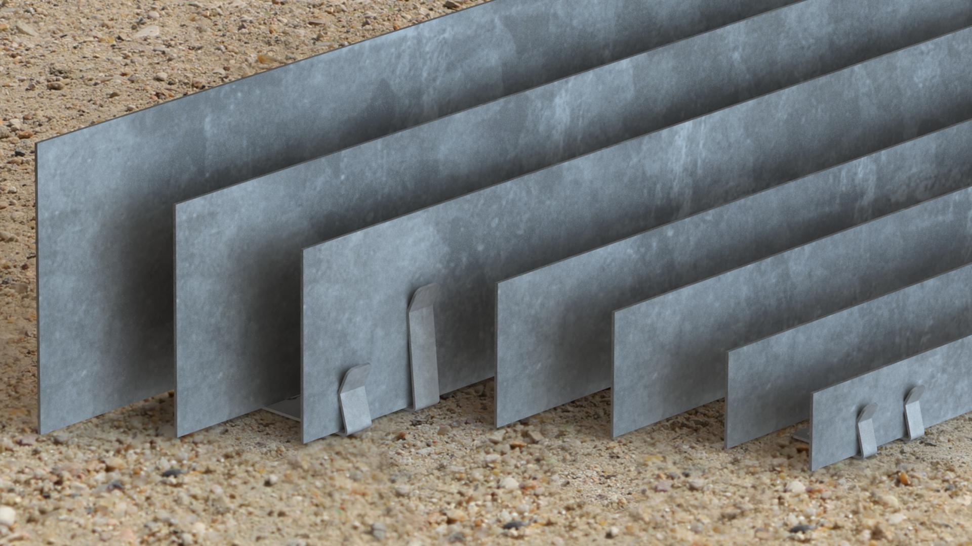 bordure volige galvanise separation