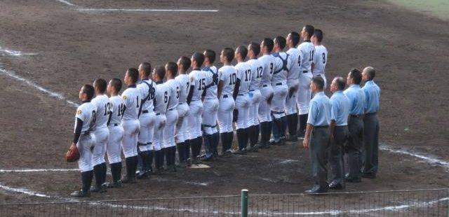 高校野球の校歌斉唱