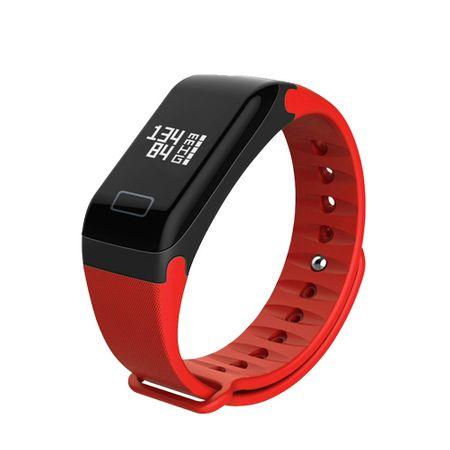 Bratara fitness MoreFIT™ F1 Pro , BT 4.0, rezistenta la apa, puls, rosu