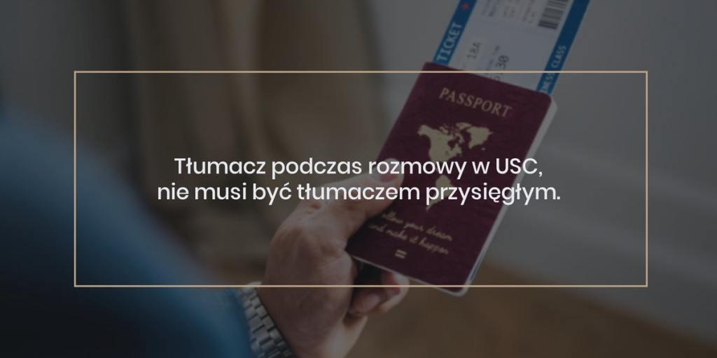Poradnik ślubny- ślub cywilny z obcokrajowcem: Rozmowa w USC - Tłumacz podczas rozmowy w USC, nie musi być tłumaczem przysięgłym.