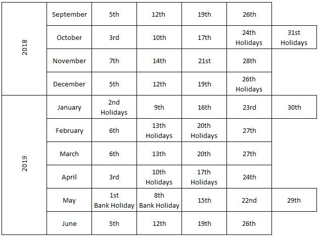 APARC Calendar 2018 2019