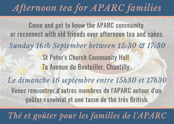 Aparc afternoon tea 2018