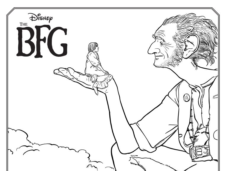 The BFG kid's coloring pages and other activities