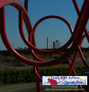 Moncton Skyline Through Climbing Aparatus