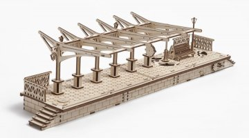 UGears Railway Station Platform Shows The Intricacy Of Wooden Models