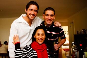 Nossos amigos Luiz Fernando e Alê`