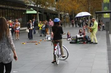 Apreciar os artistas de rua
