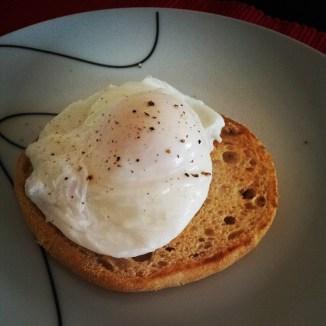 Meu primeiro ovo pochê