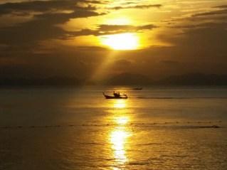 Por do sol em Ao Nang