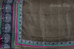 Dupatta with a tribal design.