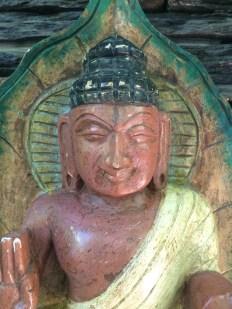 Buddha - Wood Work Tamil Nadu