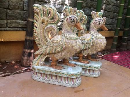 Pair of Peacock - Wood Work Tamil Nadu