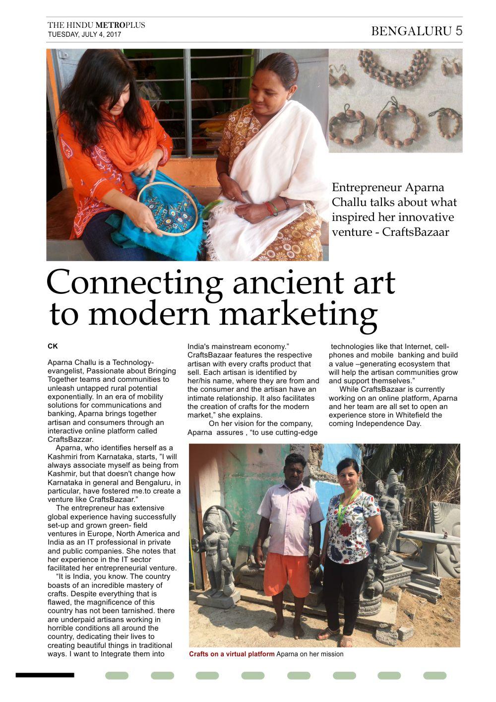 Aparna-Challu-CraftsBazaar-CEO-The-Hindu