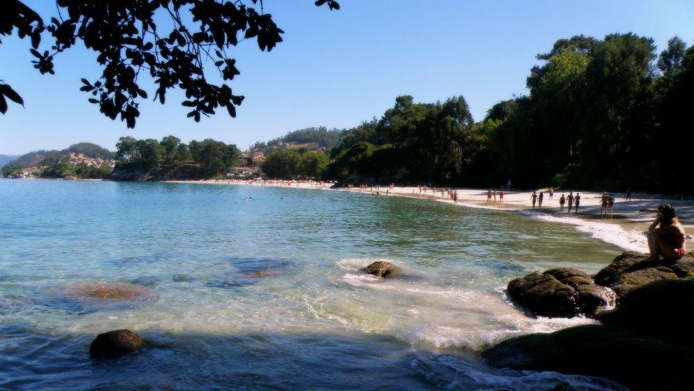 Cerca de Apartamento Lapamán: Playa de Lapamán en Bueu (Rías Baixas)