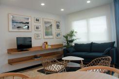 Salón con sofá convertible a cama 1,40 en Apartamento Lapamán