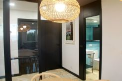 Recibidor y cuarto de baño de Apartamento Lapamán