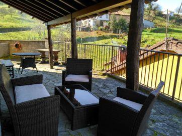 Terraza Apartamento Rural en Arriondas, La Corona II