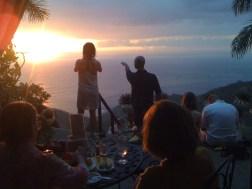 Hermosa vista de atardecer desde Villa Caletas