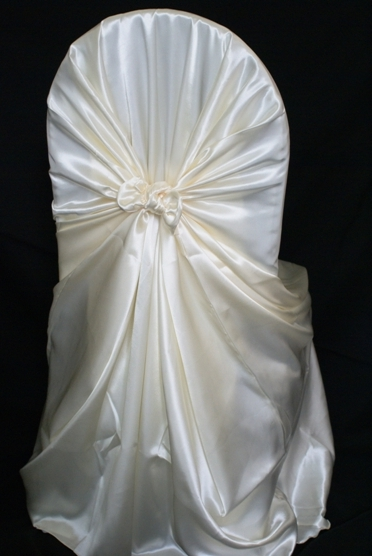chair covers universal big and tall hunting chairs rental satin self tie ivory a particular event cover