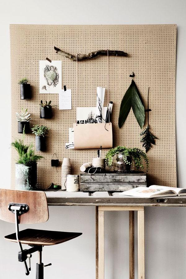 Functional Decor Ideas - Workspace Pegboard Desk