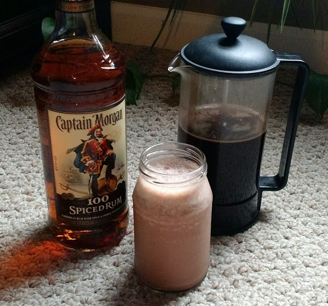 My three favorite shades of brown -- rum, coffee, and ice cream.