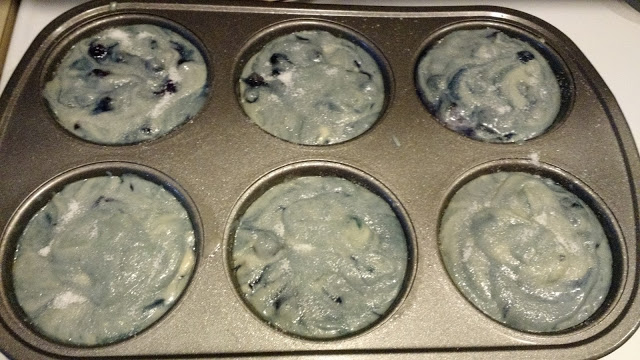 Swirly blueberry galaxy cups of yumminess.