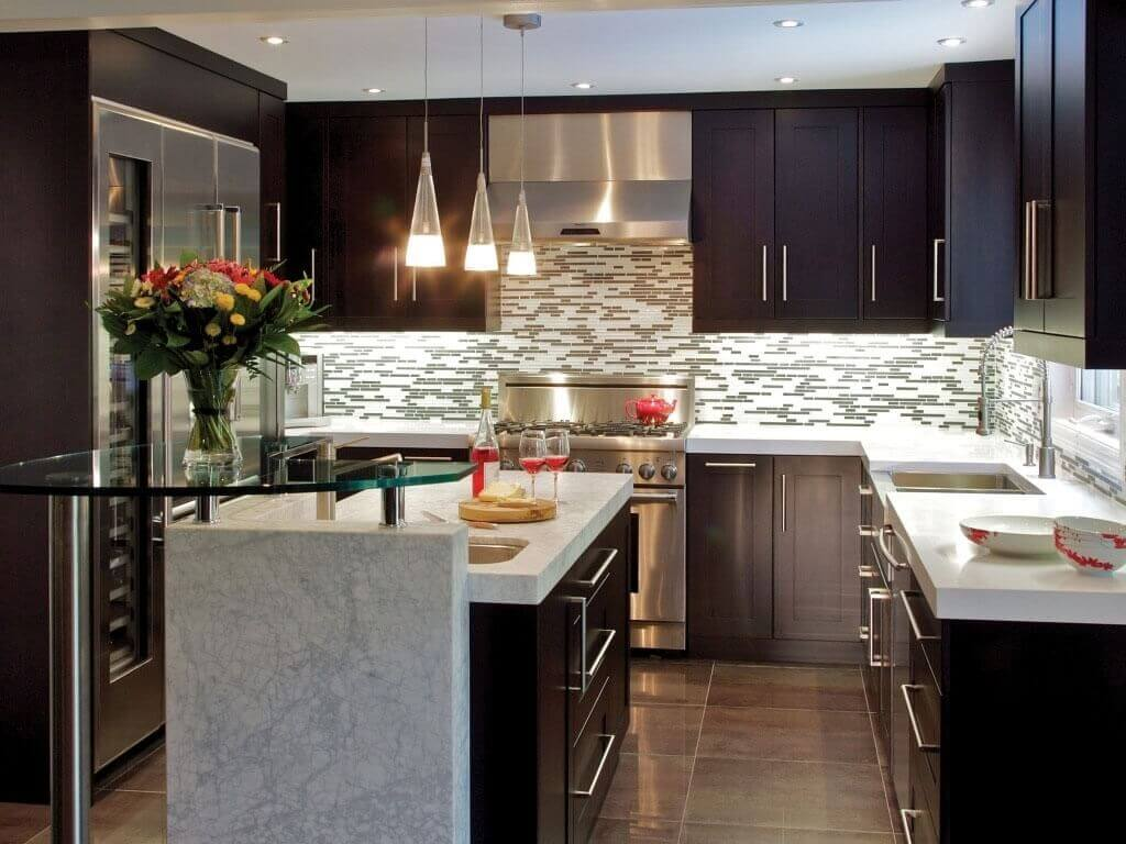 tiny kitchen remodel lowes light fixtures small cost guide apartment geeks modern with dark cabinets