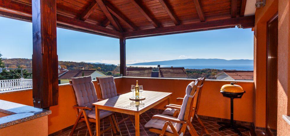 Balkon / Terrasse mit Meerblick
