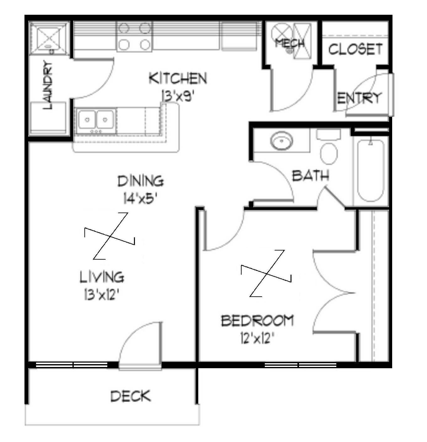 Average Square Footage Of A 2 Bedroom Apartment
