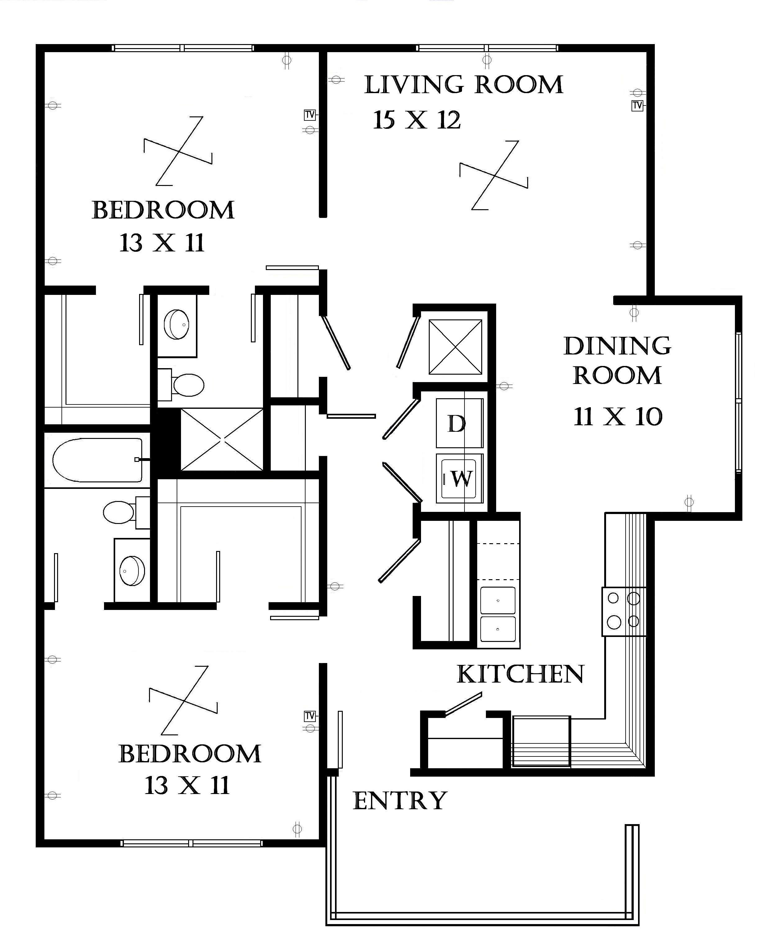 2 Bedroom 1 Bath Garage Apartment Plans Design Ideas