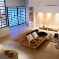 Traditional japanese bedroom decorating with unique accessorie