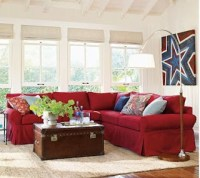 Red White and Blue decor | Apartments i Like blog