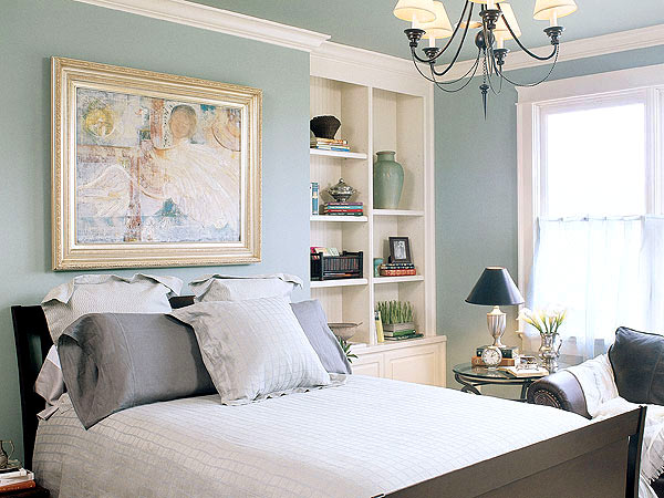 simple light blue walls master bedroom Pale Blue Bedrooms for Summer | Apartments i Like blog