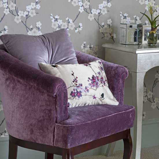 Lavender Bedroom Chair Would Look Great Anywhere In Your Doylestown  Apartment. Image From Eclectic Revisited.