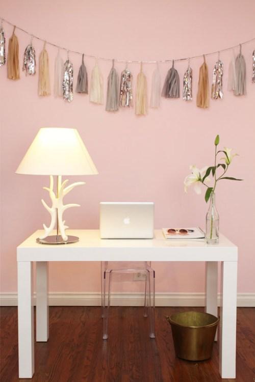 pale pink walls